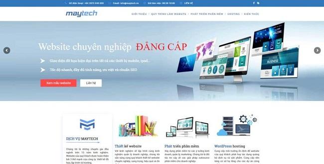Công Ty Thiết Kế Web Maytech