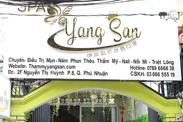 Yang San Spa quận Phú Nhuận