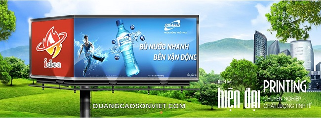 Công ty làm bảng hiệu, bảng quảng cáo Sơn Việt