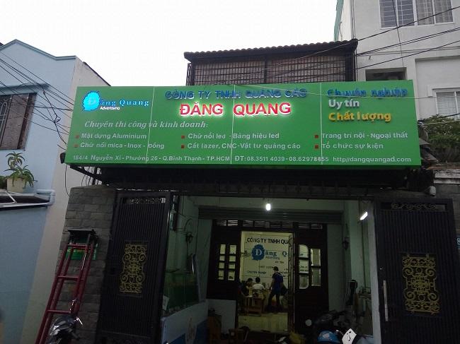 Công ty làm bảng hiệu, bảng quảng cáo Đăng Quang