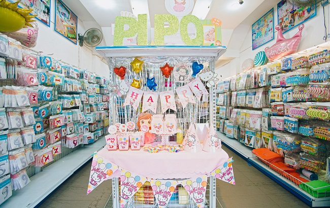 Shop bán đồ trang trí sinh nhật