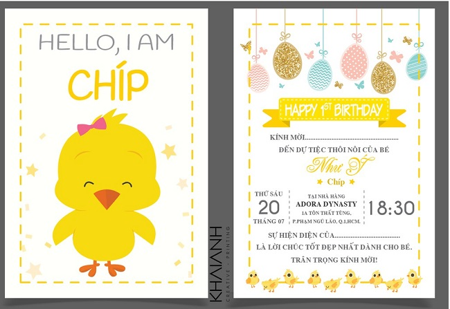 Thiệp sinh nhật Chip chip shop