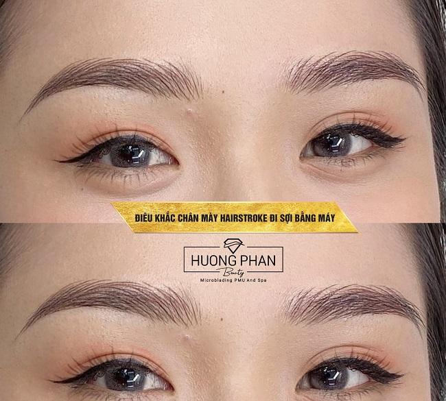 Dạy học điêu khắc lông mày, chân mày Huong Phan Beauty Academy
