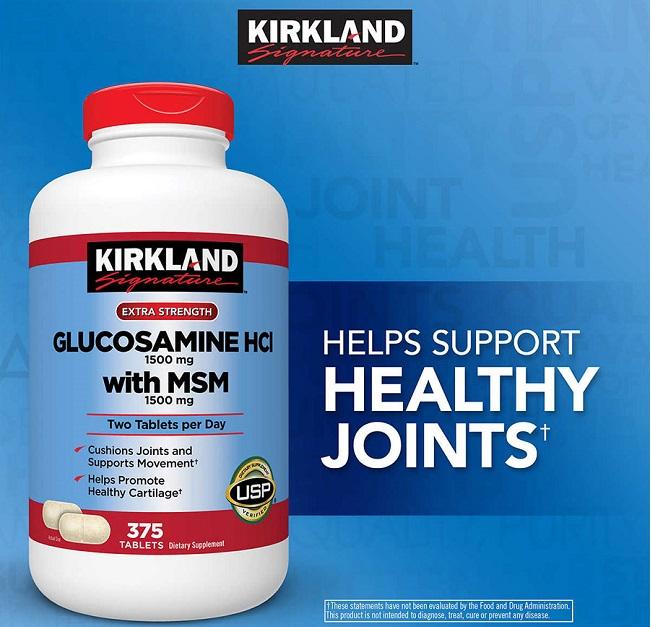 Glucosamine HCL 1500mg Kirkland của Mỹ