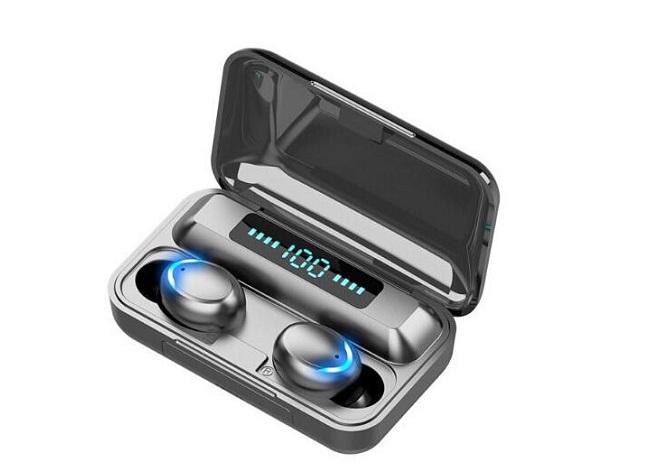 Tai Nghe Không Dây Bluetooth V5.0 F9 TWS chống nước màn hình LED Với Micro Nguồn 2000MAh