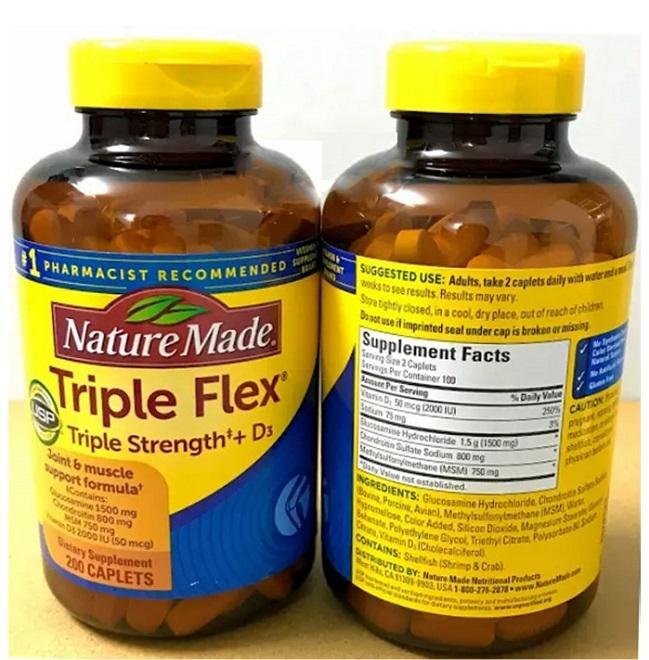 Viên Uống Triple Flex Nature Made Chính Hãng Của Mỹ