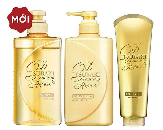 Bộ dầu gội xả Tsubaki phục hồi ngăn rụng tóc và bảo vệ tóc trước tác hại của tia UV - Chai màu vàng