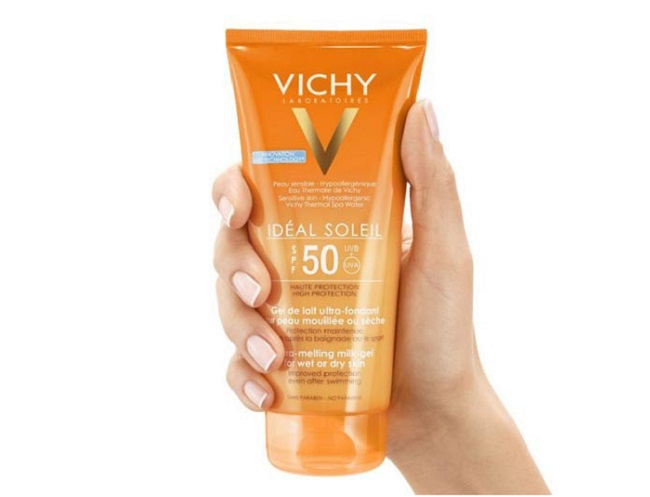 Kem chống nắng VICHY SPF 50 PA+++ Ideal Soleil Ultra-Melting Milk Gel