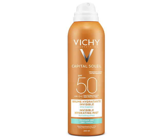 Kem chống nắng Vichy dạng xịt Ideal Soleil Invisible Hydrating Mist SPF 50 PA+++