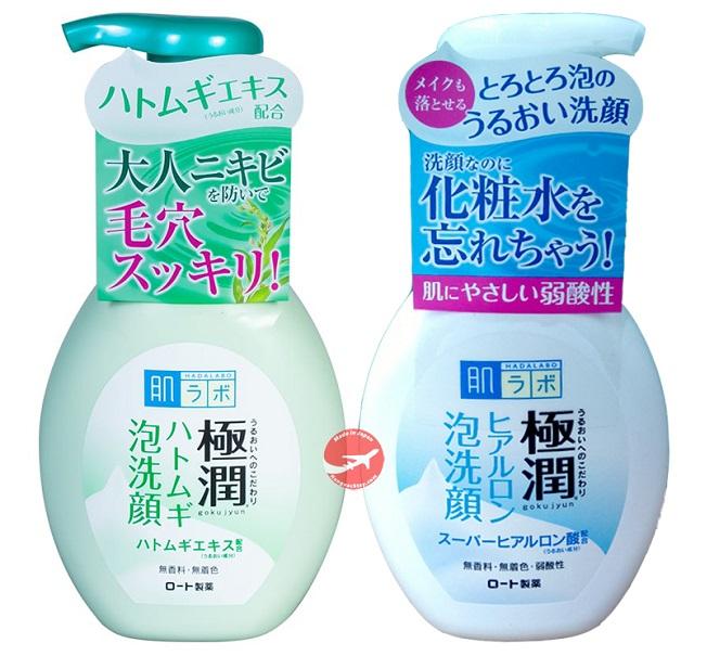 Sữa Rửa Mặt Hada Labo Gokujyun Hatomugi Foaming Face Wash