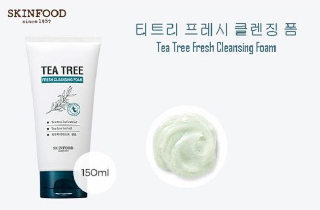 Sữa rửa mặt trị mụn Skinfood Tea Tree Fresh Cleasning Foam