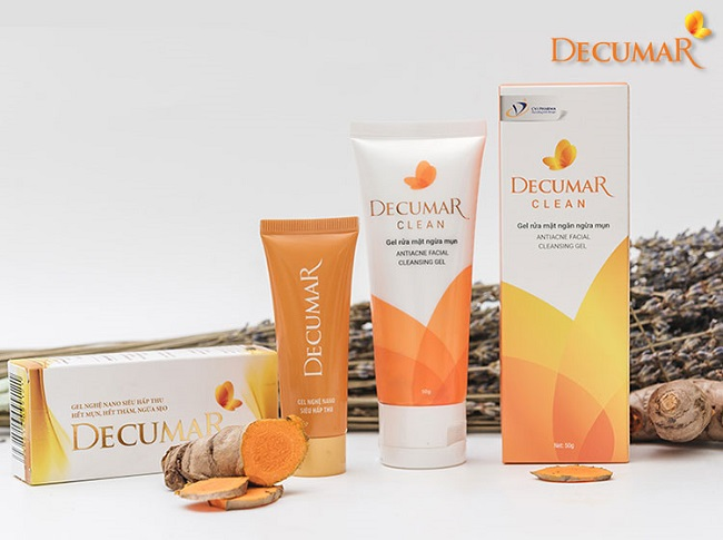 Gel rửa mặt trị mụn Decumar Clean