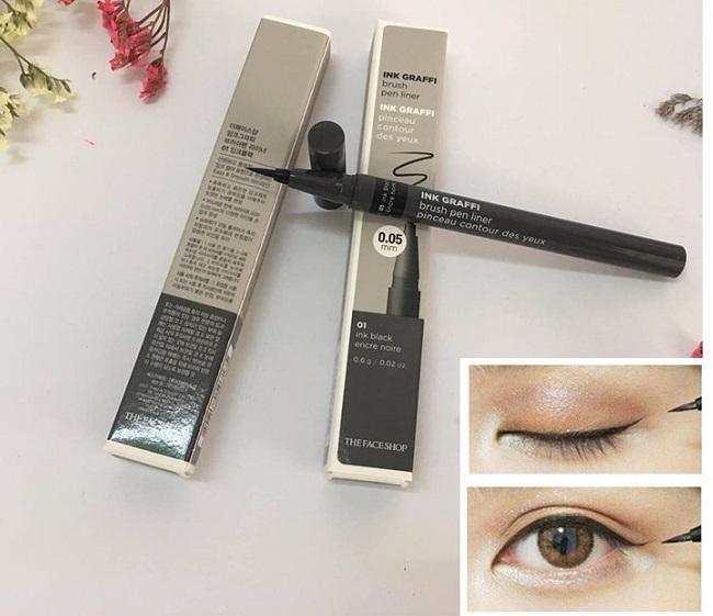 Kẻ Mắt Nước Ink Graffi Brush Pen Liner 0,05 Mm The Face Shop