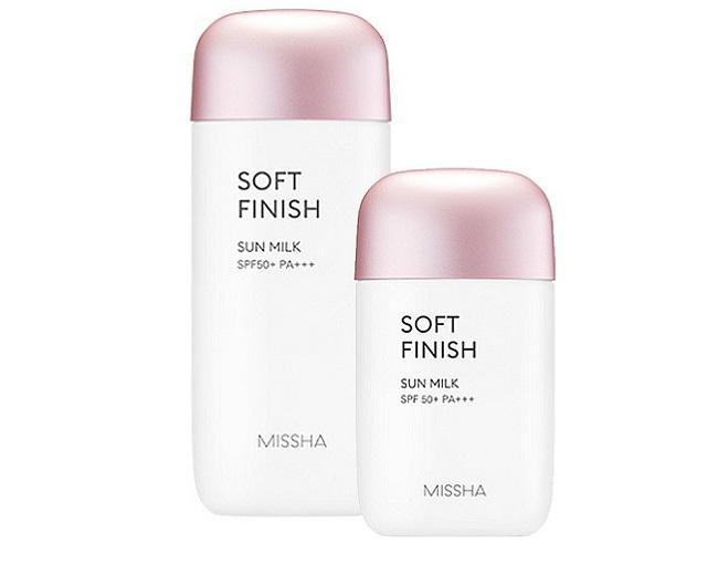 Kem Chống Nắng Tốt Giá Rẻ Missha Soft Finish Sunmilk SPF50 70ML HỒNG