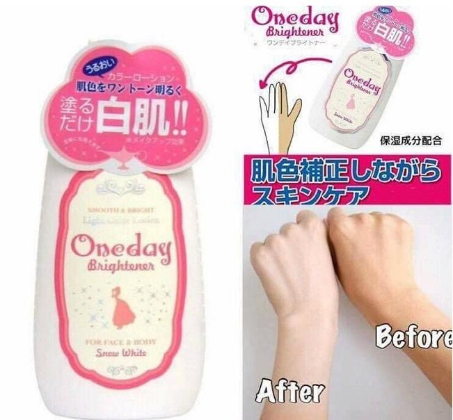 Kem dưỡng trắng toàn thân Nhật Bản Oneday Brightener