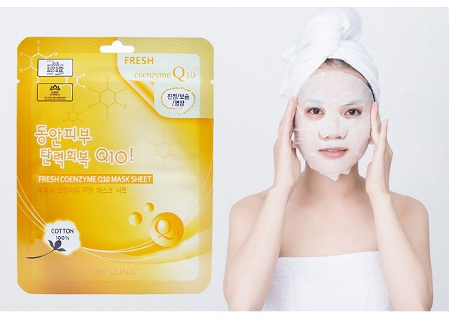 Mặt nạ bổ sung Collagen 3W Clinic Fresh Coenzyme Q10 Mask Sheet
