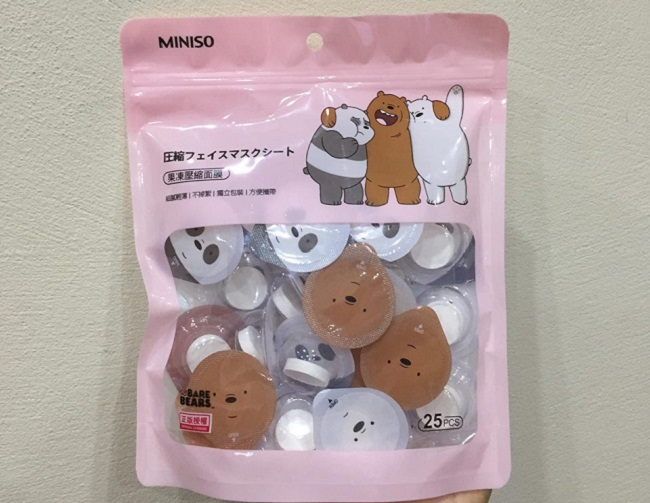 Mặt Nạ Nén Miniso - Mask Nén Bear