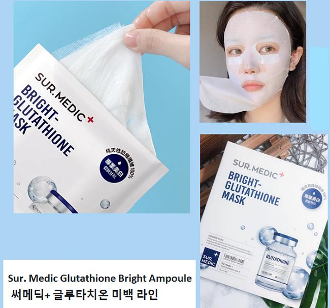 Mặt Nạ Trắng Da Sur.Medic Bright Glutathione Mask 5.0