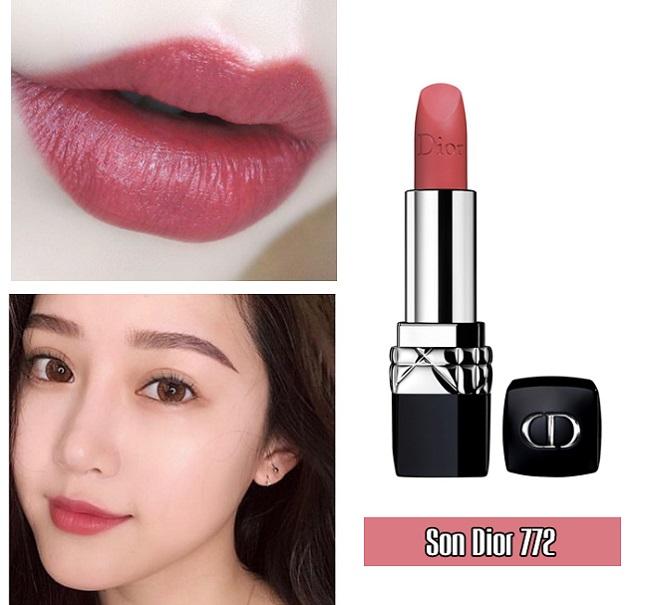 Son Dior Rouge Dior Matte – Màu 772 Classic Matte Hồng Đất