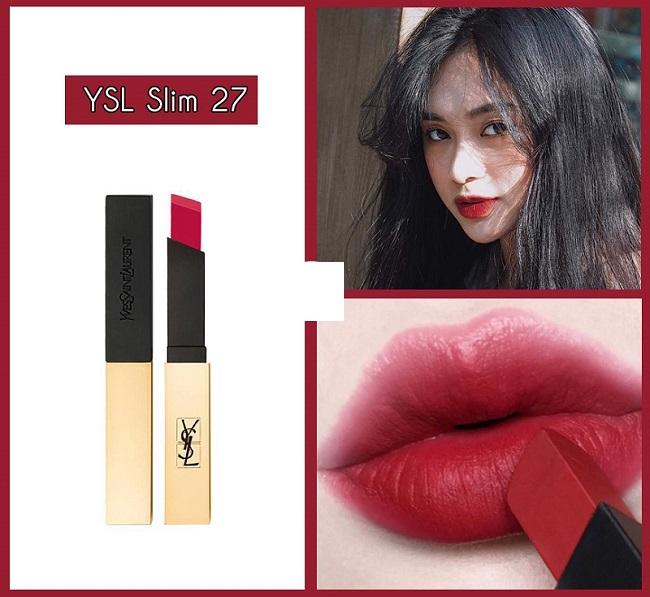 Son YSL Rouge Pur Couture The Slim 27 Conflicting Crimson Màu Đỏ Đất