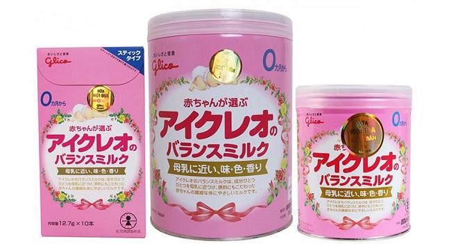 Sữa Glico – Dòng sữa tăng cân cho bé dưới 1 tuổi tốt nhất của Nhật.