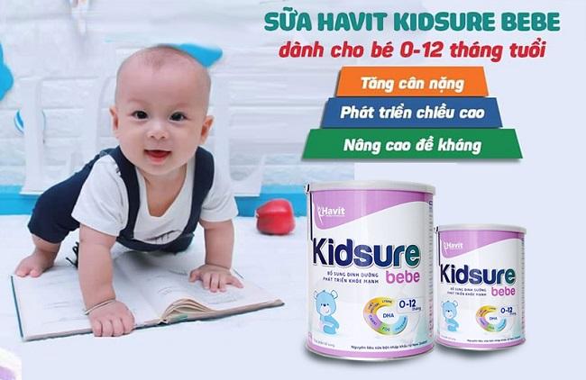 Sữa Kidsure Bebe bổ sung nhiều năng lượng giúp tăng cân hiệu quả