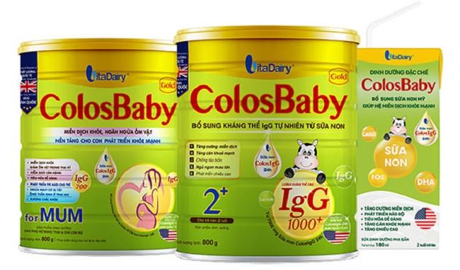 Sữa non Colosbaby giúp trẻ tăng trưởng chiều cao, cân nặng