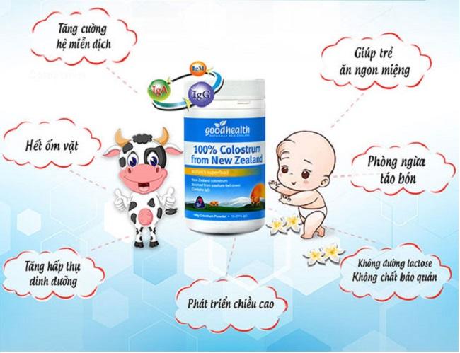 Sữa non cho trẻ sơ sinh goodhealth