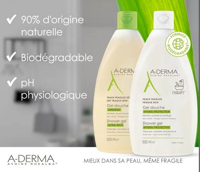 Sữa tắm Aderma Gel Douche Hydra Protecteur của Pháp