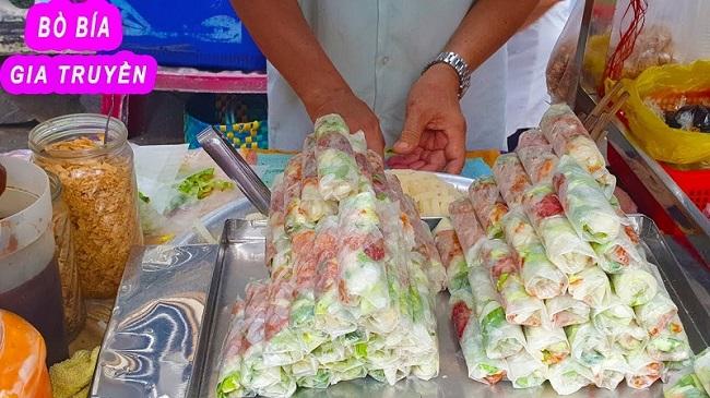 Bò Bía Lữ Gia món ăn vặt ngon ở Sài Gòn