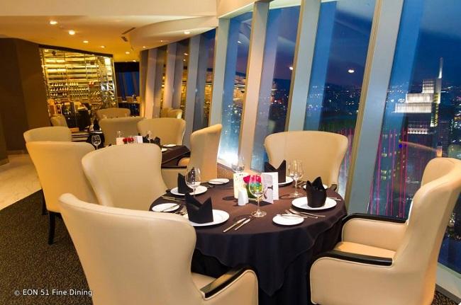 Nhà hàng EON 51 là nhà hàng sang trọng nhất nhì ở TPHCM