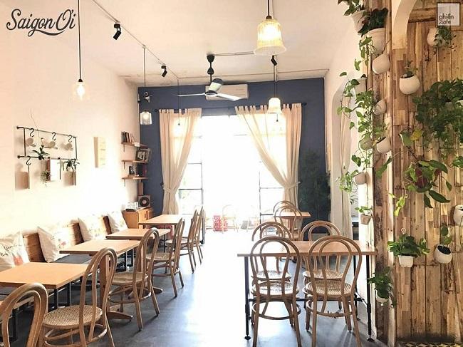 Sài Gòn Ơi Cafe là quán cafe làm việc yên tĩnh