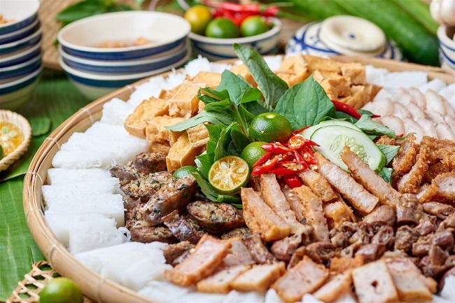 Bún đậu ngõ Tràng Tiền - bún đậu mắm tôm ngon ở Hà nội