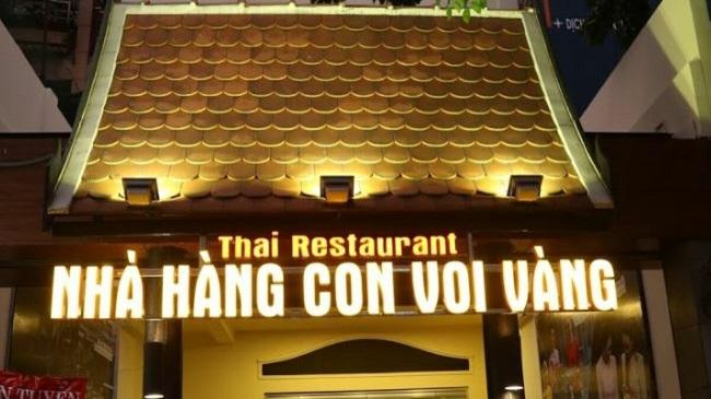 Nhà Hàng Con Voi Vàng là nhà hàng Thái Lan nổi tiếng ở TPHCM