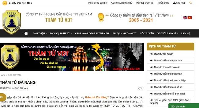 Thám tử VDT - Dịch vụ thám tử tại Đà Nẵng