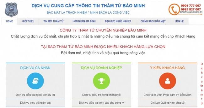 Dịch vụ thám tử Hà Nội Bảo Minh