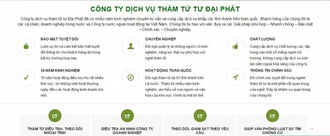 Công ty dịch vụ thám tử Đại Phát - Dịch vụ thám tử Hà Nội