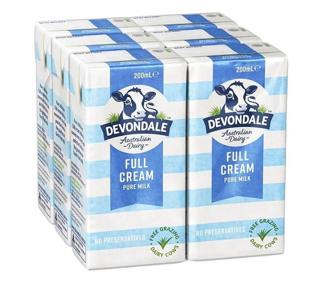 Sữa tươi tiệt trùng Devondale nguyên chất nhập từ Úc