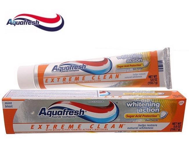 Kem đánh răng Aquafresh là kem đánh răng tốt nhất thế giới
