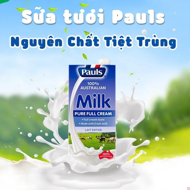 Sữa tươi nguyên kem Pauls Úc